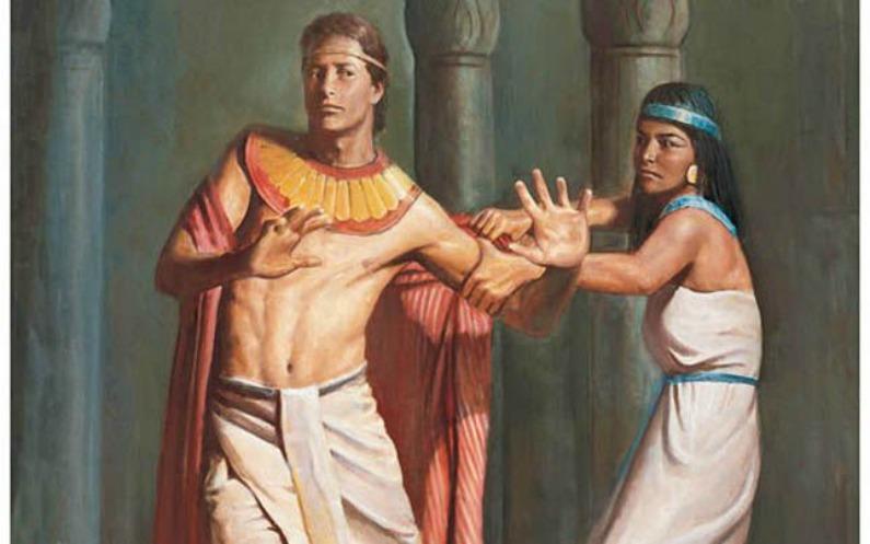 تب اس عورت نے اسکا پیراہن پکٹر کر کہا پیرے ساتھ ہم بستری کرو ۔وہ اپنا پیراہن اسکے ہاتھ سے چھوڑ کر بھاگ گیا۔